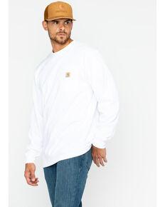 Carhartt Men's Long Sleeve Work T-Shirt , White, hi-res