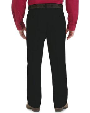 Wrangler Men's Riata Flat Front Relaxed Casual Pants, Black, hi-res