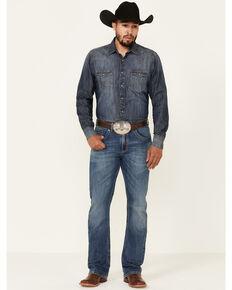 Rock 47 By Wrangler Men's Melody Medium Wash Stretch Slim Bootcut Jeans , Blue, hi-res