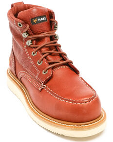 Hawx Men's Grade Moc Wedge Work Boots - Nano Composite Toe, Red, hi-res