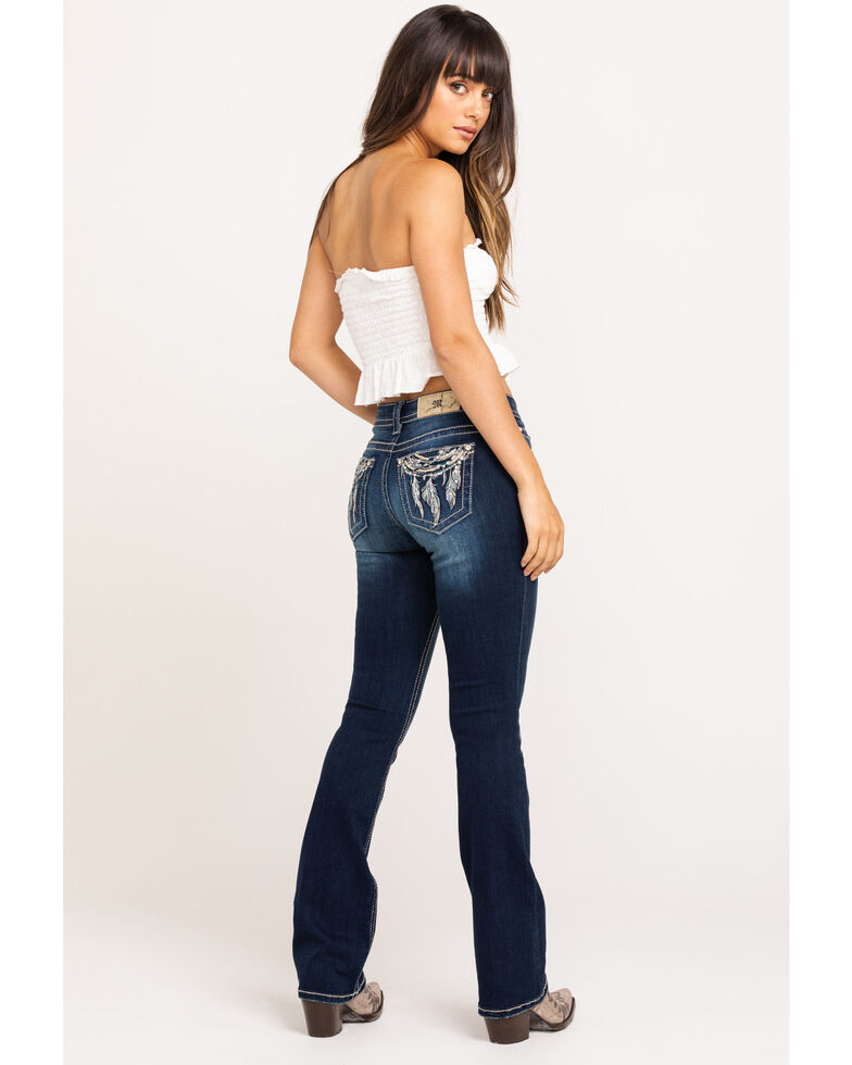 Miss Me Women's Dream Catcher Bootcut Jeans, Blue, hi-res