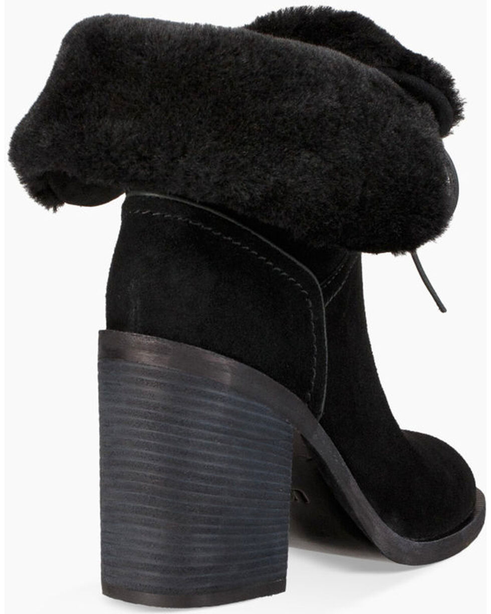 UGG Women's Black Jerene Fashion Boots - Round Toe , Black, hi-res