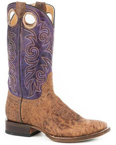 Roper Women's Vintage Brown Western Boots - Square Toe, Tan, hi-res