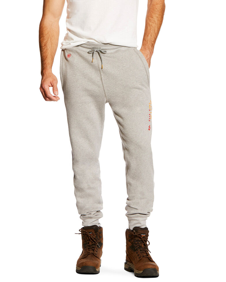 Ariat Men's FR Work Sweatpants, Heather Grey, hi-res