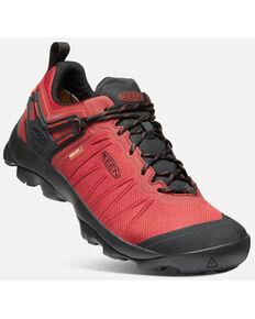 Keen Men's Ketchup & Black Venture Waterproof Lace-Up Hiking Shoe , Red, hi-res
