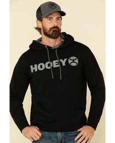 HOOey Men's Black Lock-Up Graphic Hooded Sweatshirt , Black, hi-res