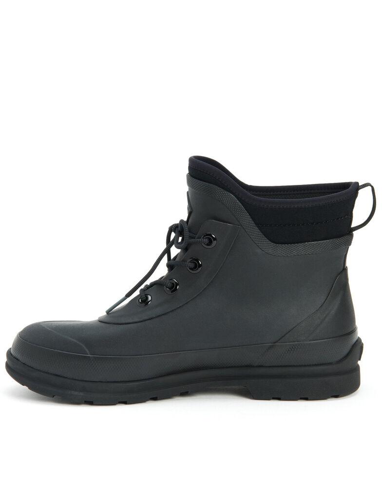 Muck Boots Men's Muck Originals Lace-Up Rubber Boots - Round Toe, Black, hi-res