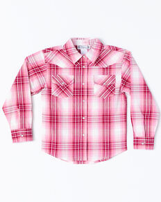 caf7490272c Shyanne Toddler Girls Lurex Plaid Core Long Sleeve Western Shirt
