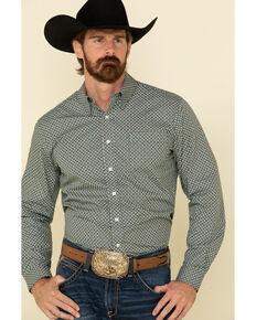 Cinch Men's Modern Fit Multi Small Geo Print Button Long Sleeve Western Shirt , Multi, hi-res