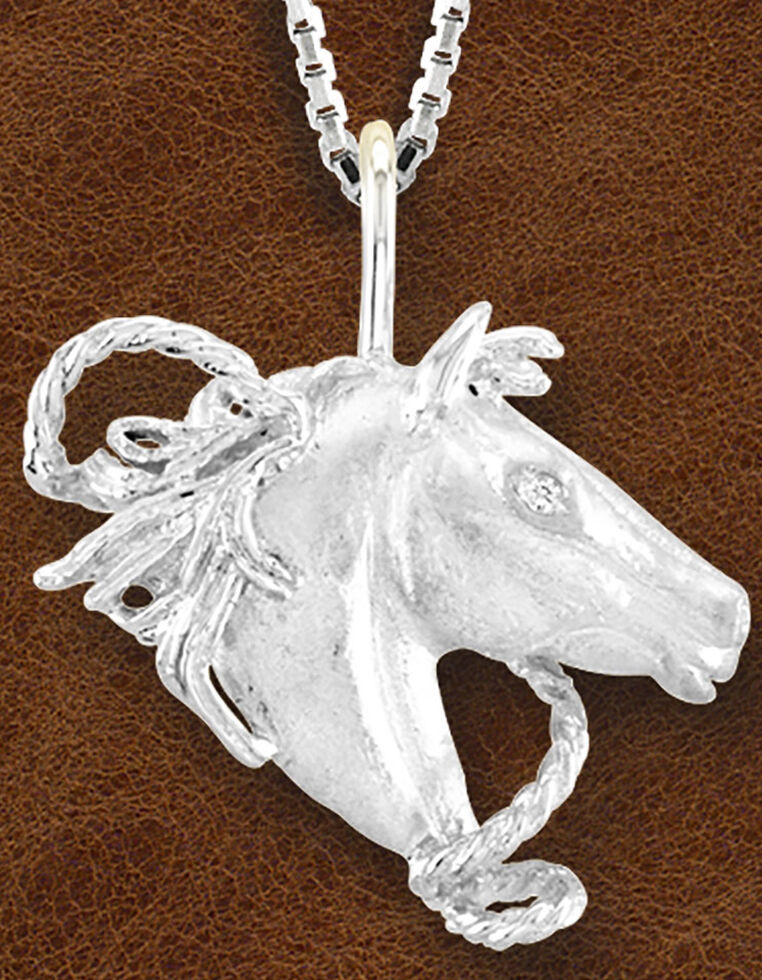 Kelly Herd Women's Sterling Silver Horsehead Necklace, Silver, hi-res