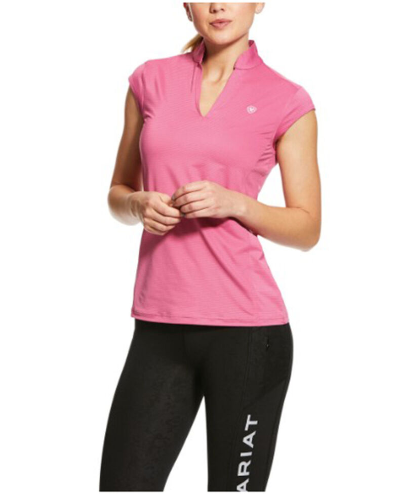 Ariat Women's Heather Pink Cambria Cap Sleeve Baselayer, Pink, hi-res