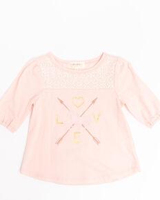 Shyanne Toddler Girls' Pink Love Horse Graphic Top, Light Pink, hi-res