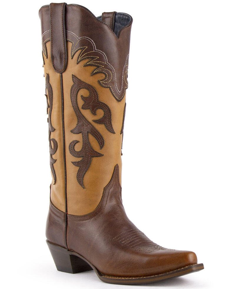 Ferrini Women's Legend Western Boots - Snip Toe, Brown, hi-res