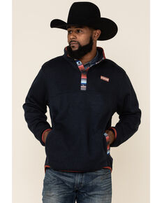 Cinch Men's Navy Heavyweight Knit Pullover Sweatshirt , Navy, hi-res