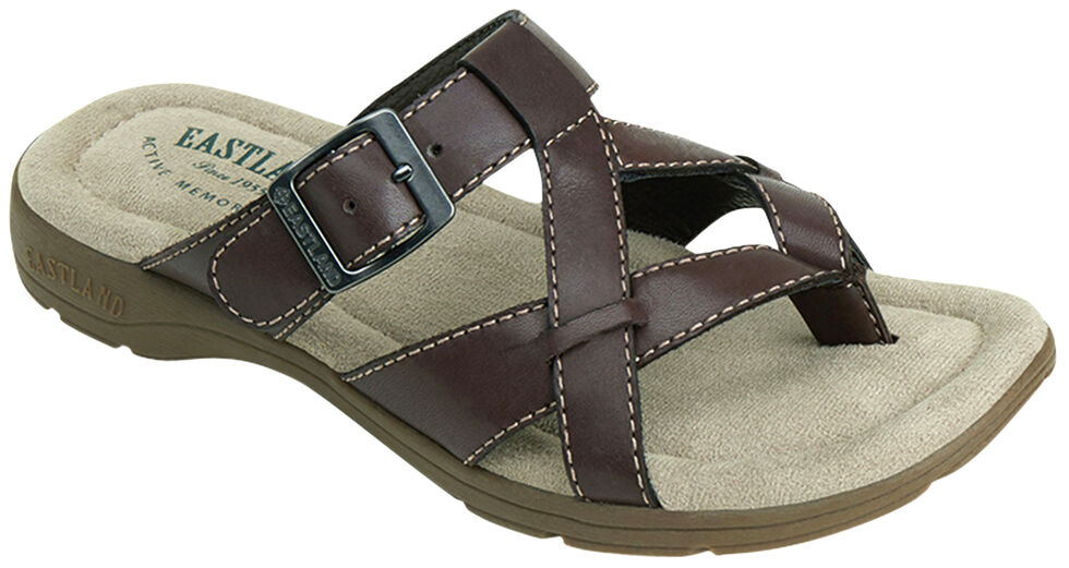 051416f9bbf Eastland Women s Brown Pearl Thong Sandals - Country Outfitter