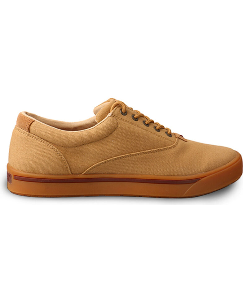 Hooey Lopers by Twisted X Men's Beige Canvas Casual Shoes, Beige/khaki, hi-res