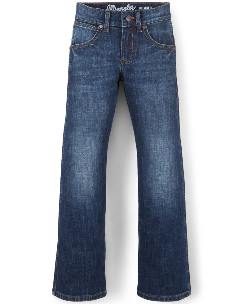 Wrangler Retro Boys' Barton Springs Stretch Relaxed Bootcut Jeans - Little, Blue, hi-res