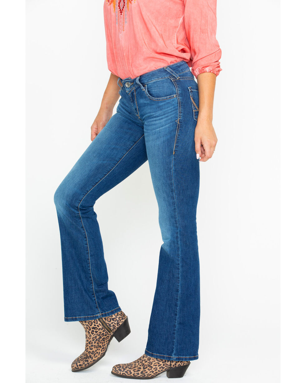 Ariat Women's Alanis Ultra Stretch Bootcut Jeans, Blue, hi-res
