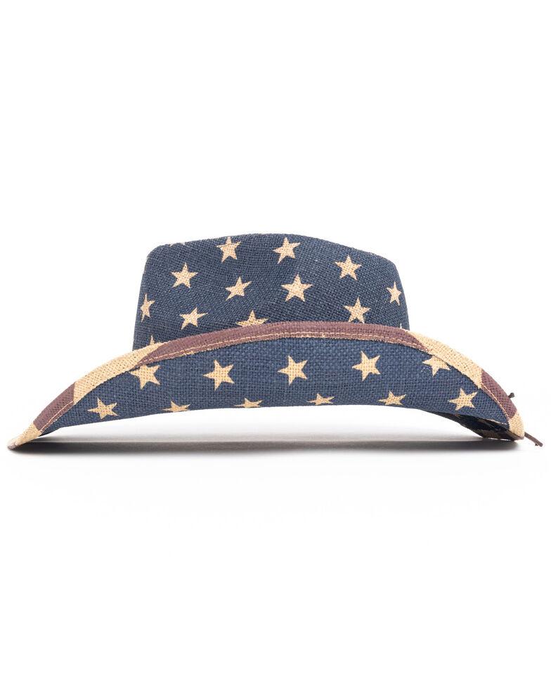 Cody James Men's Blue O Uncle Sam Jute Straw Western Hat , Black, hi-res