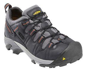 Keen Men's Detroit Low Shoes - Steel Toe, Dark Grey, hi-res
