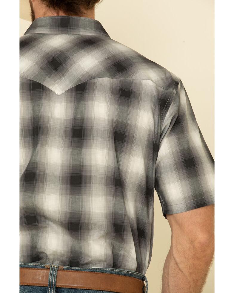 Pendleton Men's White Frontier Ombre Plaid Short Sleeve Western Shirt , White, hi-res
