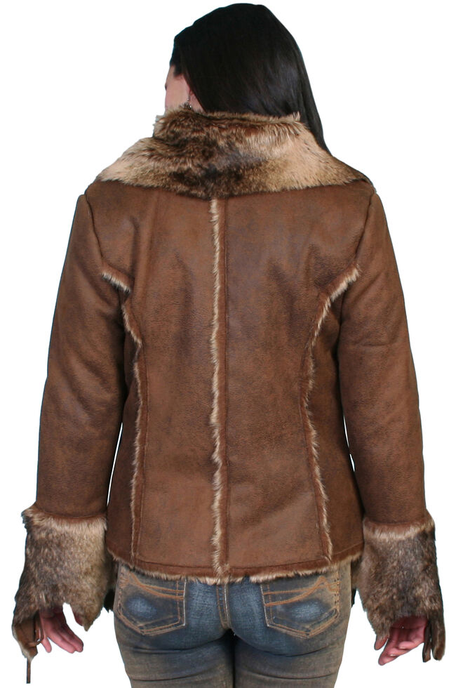 Scully Faux Fur and Suede Jacket, Dark Brown, hi-res