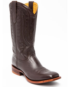 Twisted X Men's Rancher Western Boots - Wide Square Toe, Black, hi-res