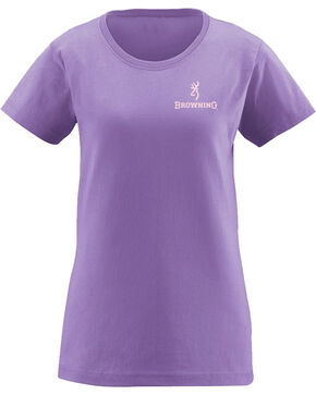Browning Women's Cowboy Boot Graphic Tee , Lavender, hi-res