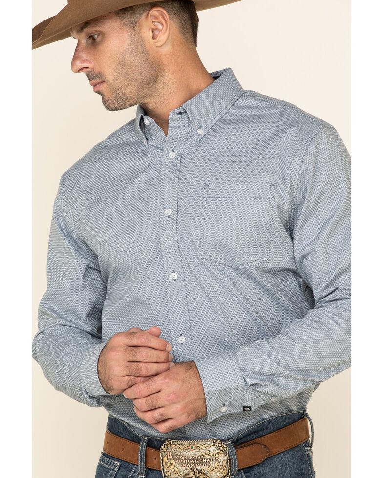 Cody James Core Men's Corpus Small Geo Print Long Sleeve Western Shirt - Tall , Medium Blue, hi-res
