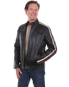Scully Leatherwear Men's Black Lamb Riding Jacket , Black, hi-res