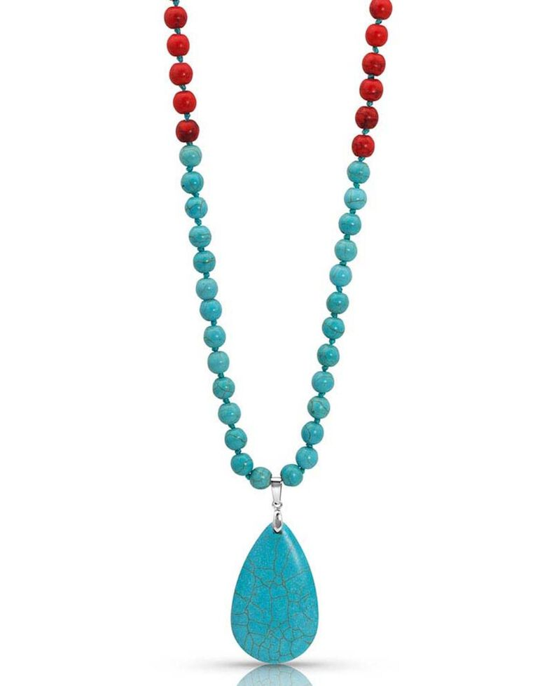 Montana Silversmiths Women's Colors of Strength Beaded Necklace, Turquoise, hi-res