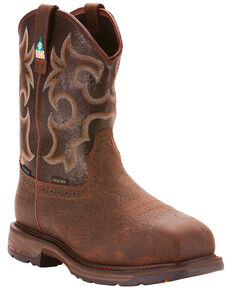 Ariat Men's Brown Workhog H20 600G CSA Boots - Composite Toe , Brown, hi-res