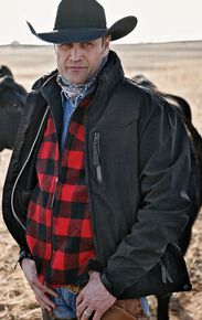 STS Ranchwear Men's Young Gun Black Jacket - Big & Tall, Black, hi-res