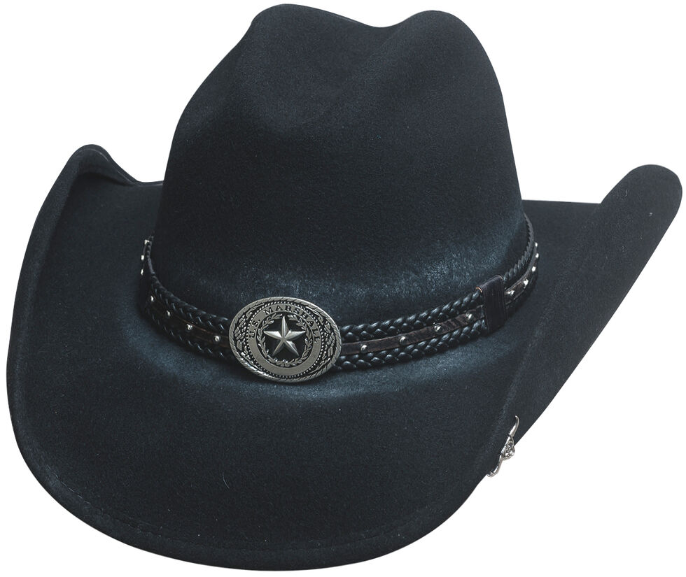 Bullhide Hats Men s Cowboy Collection Stray Bullet Wool Felt Western ... 5e48278947a