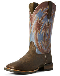 Ariat Men's Crossdraw Oxblood Western Boots - Wide Square Toe, Blue, hi-res