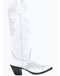 Miss Macie Women's Happily Ever After Western Boots - Snip Toe, White, hi-res