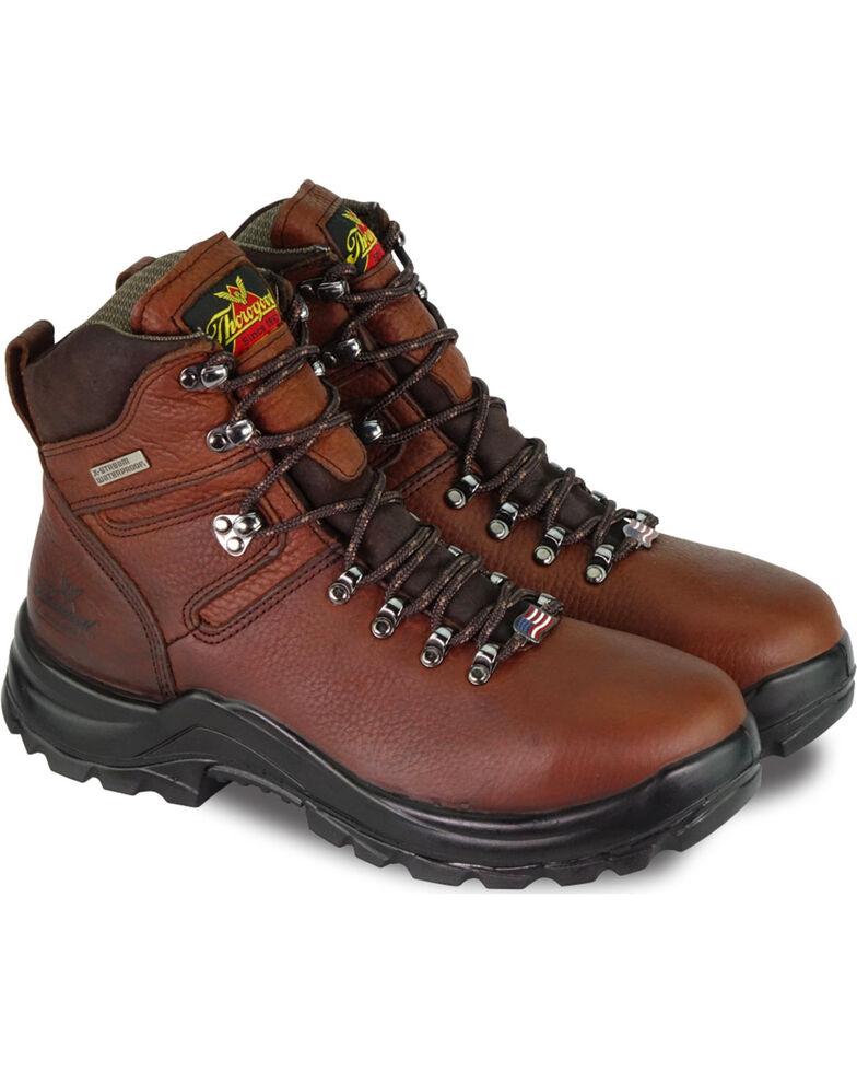 "Thorogood Men's 6"" Omni Waterproof Work Boots, Brown, hi-res"