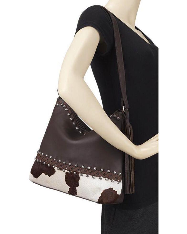 American West Women's Wild Horses Shoulder Handbag , Multi, hi-res