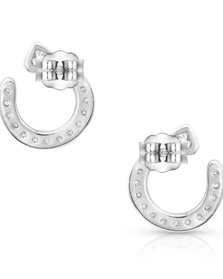 Montana Silversmiths Women's Star Lights Horseshoe Nail Earrings, Silver, hi-res