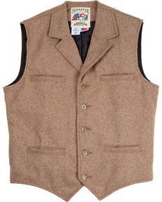 Schaefer Outfitter Men's 707 McClure Taupe Melton Wool Vest - Big, Taupe, hi-res