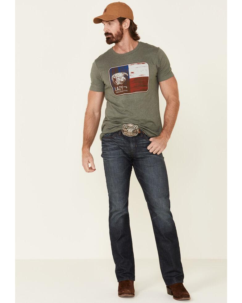 Lazy J Ranch Wear Men's Green Texas Flag Graphic T-Shirt, Green, hi-res