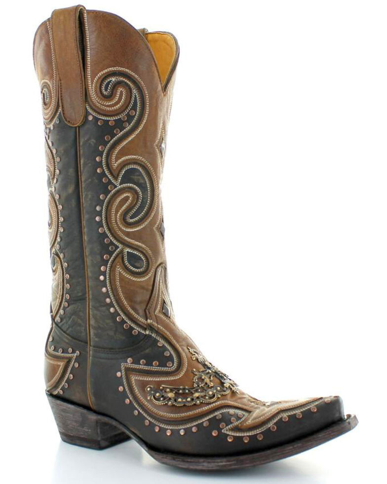 Old Gringo Women's Bonanza Chic Fancy Cowgirl Boots - Snip Toe, Chocolate, hi-res
