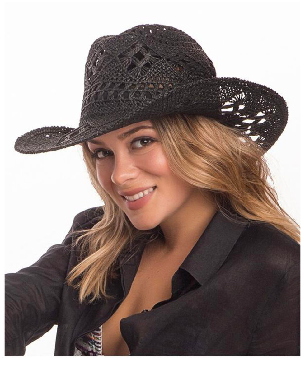 ále by Alessandra Women's Caballera Cowgirl Hat , Black, hi-res