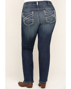 Ariat Women's Mid Rise Boot Cut Real Riding Jeans - Plus, Blue, hi-res