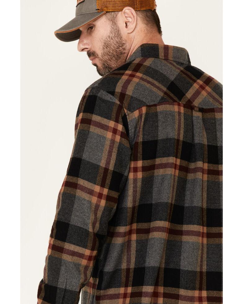 Dakota Grizzly Men's Brock Large Plaid Long Sleeve Western Flannel Shirt , Charcoal, hi-res