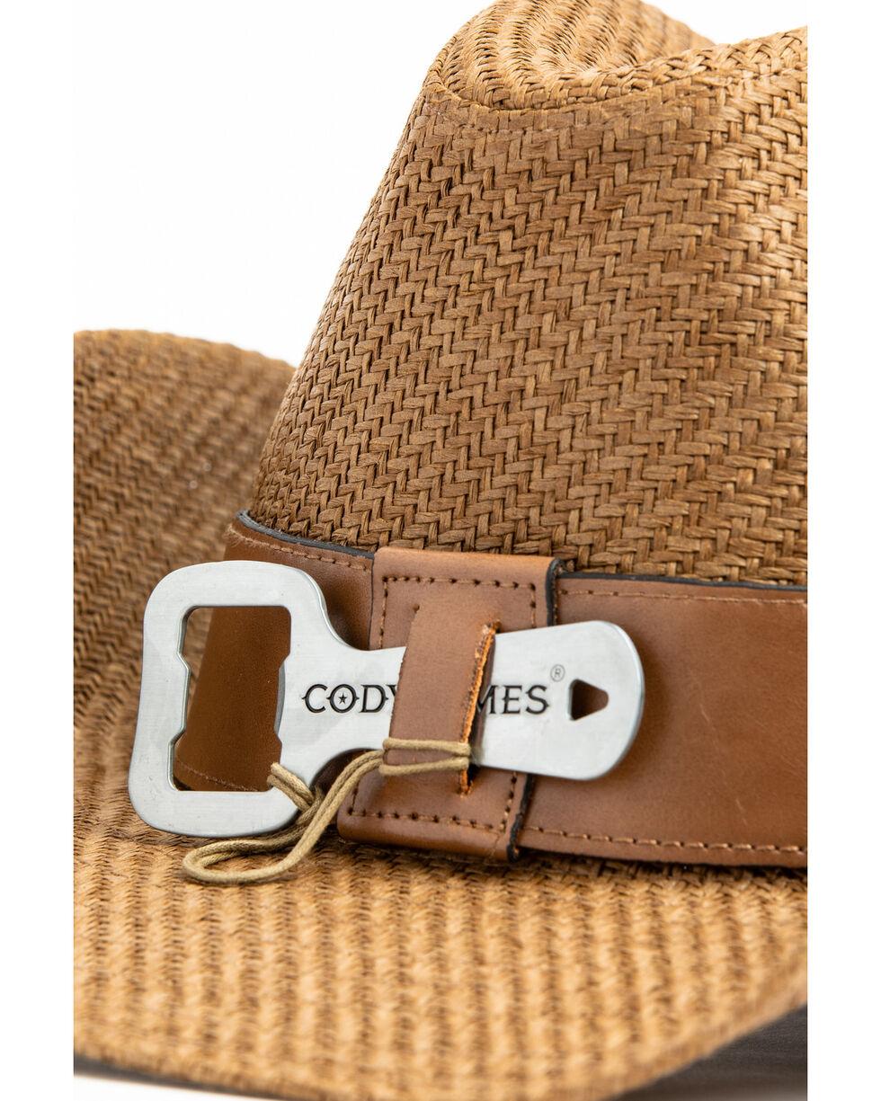 Cody James Men's Kelsey Western Straw Hat , Brown, hi-res