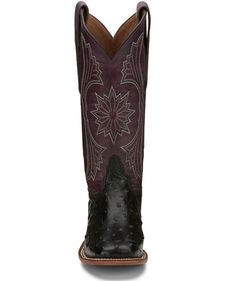 Tony Lama Women's Farron Black Western Boots - Wide Square Toe, Black, hi-res