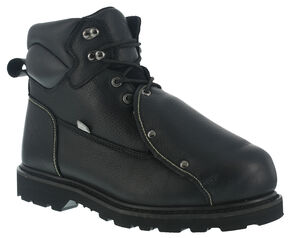 Iron Age Men's Ground Breaker Steel Toe Met Guard Work Boots, Black, hi-res