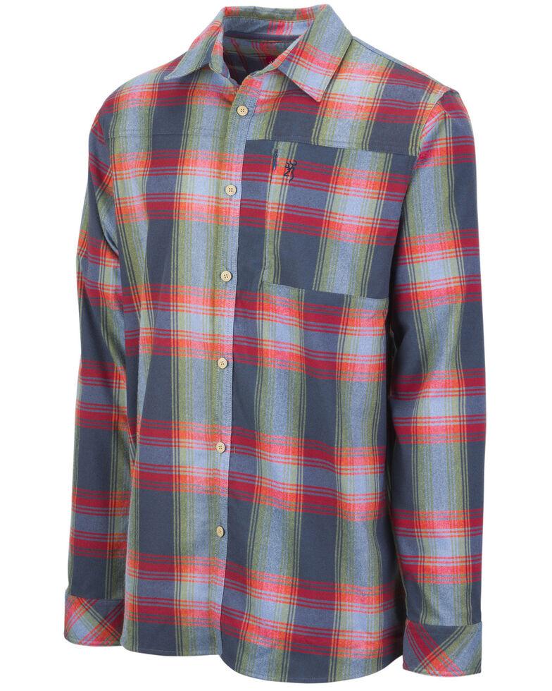 Browning Men's Blue Beacon Flannel Shirt , Blue, hi-res