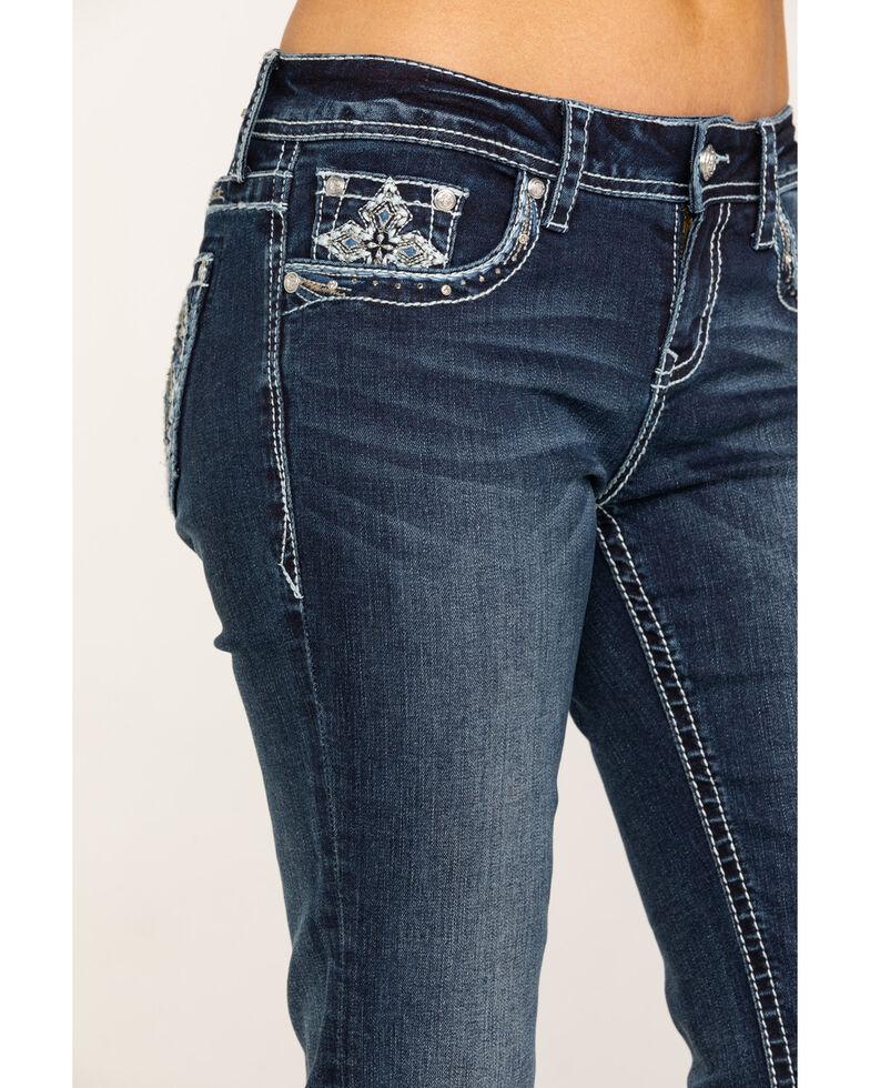 Grace in LA Women's Medium Wing Bootcut Jeans, Blue, hi-res